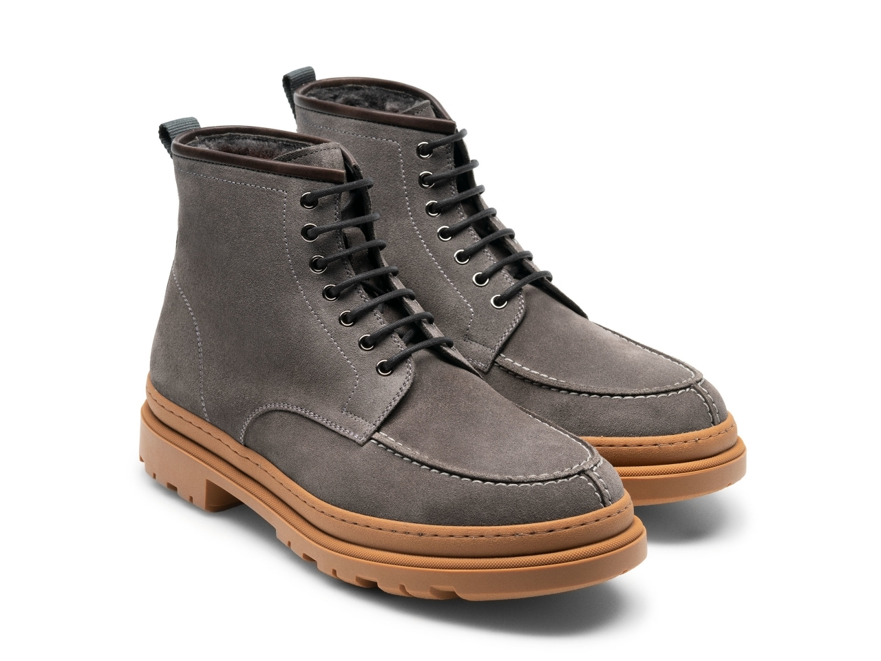 Pair of the Lupin Grey Suede