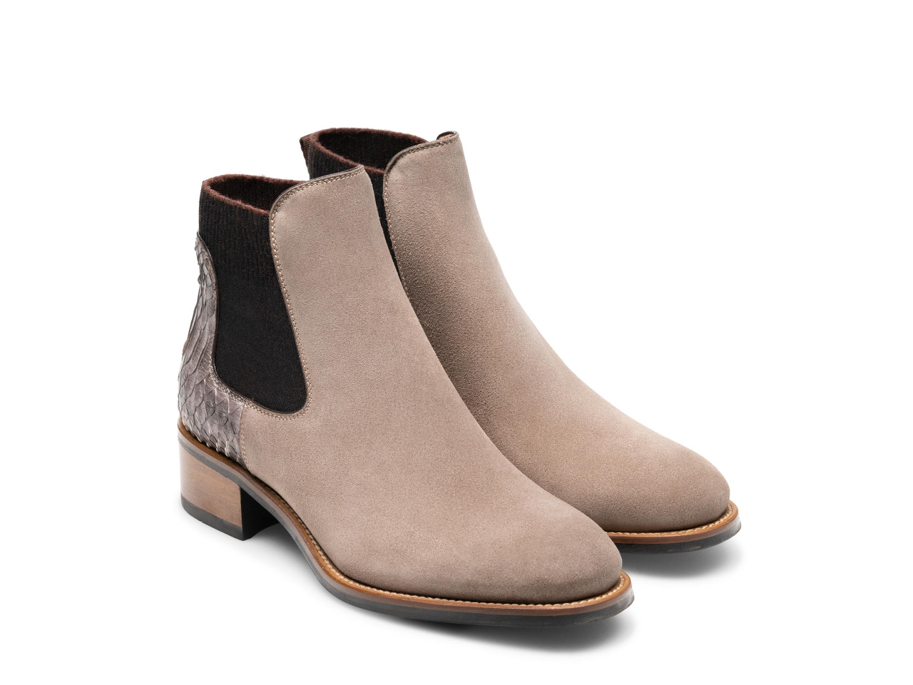 Pair of the Jayde Taupe Suede