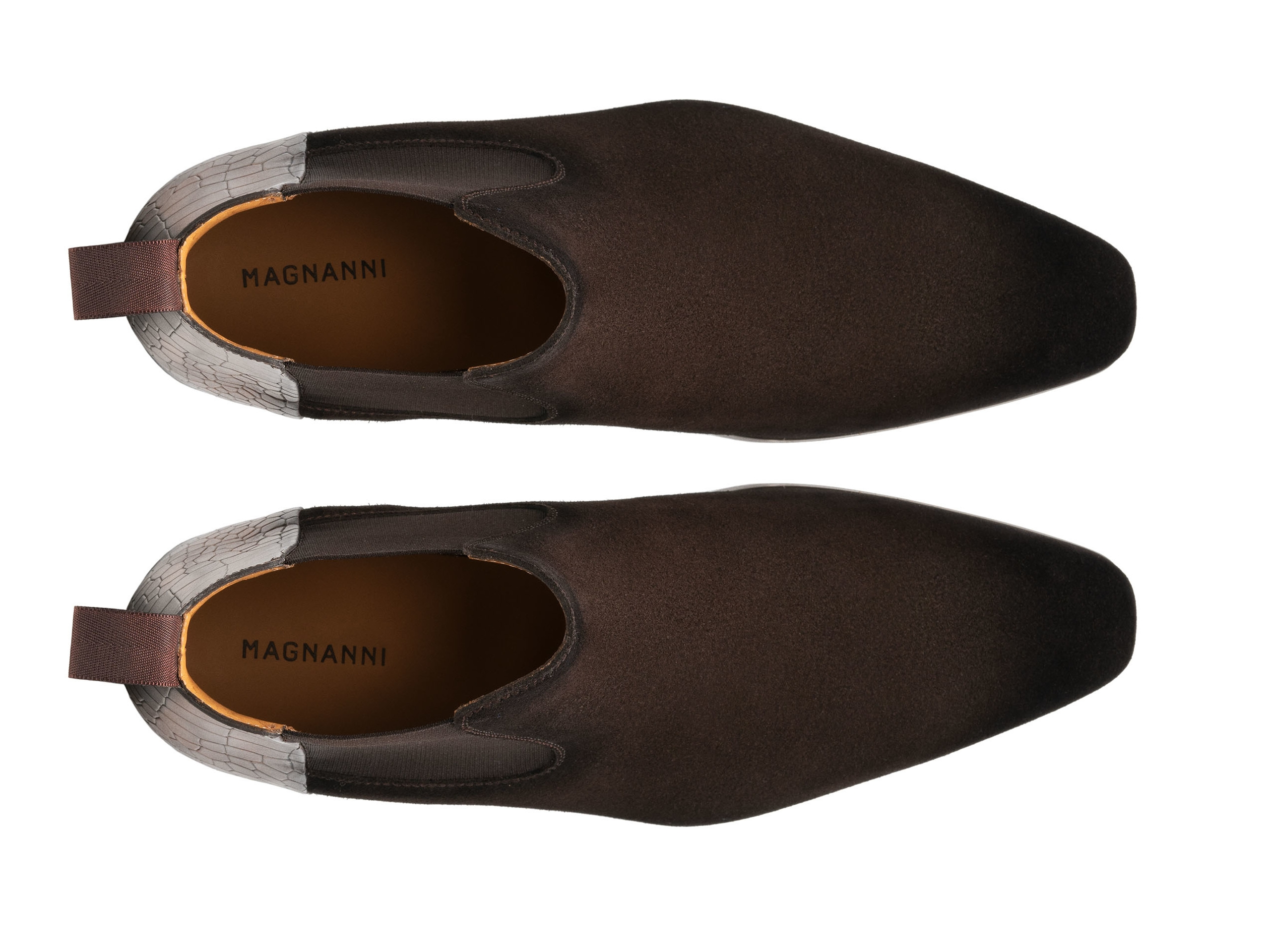 Top Down of the Renley Brown Suede