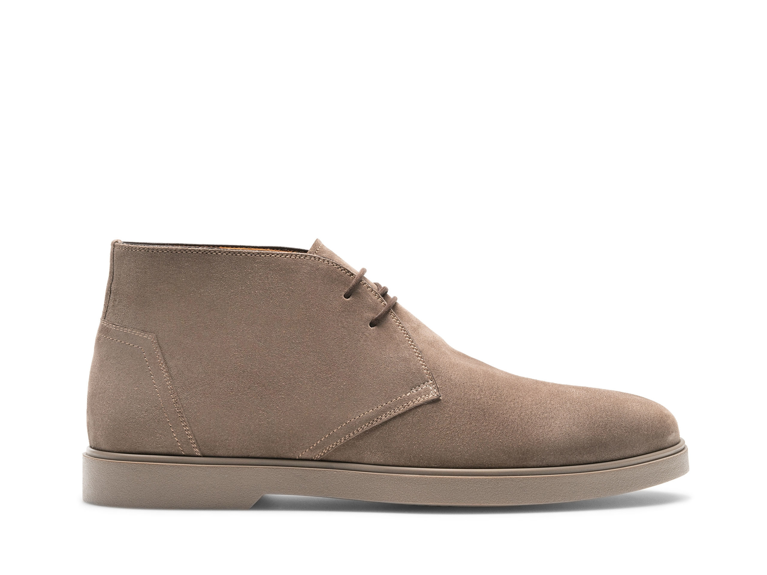 Side of the Duran Taupe Suede