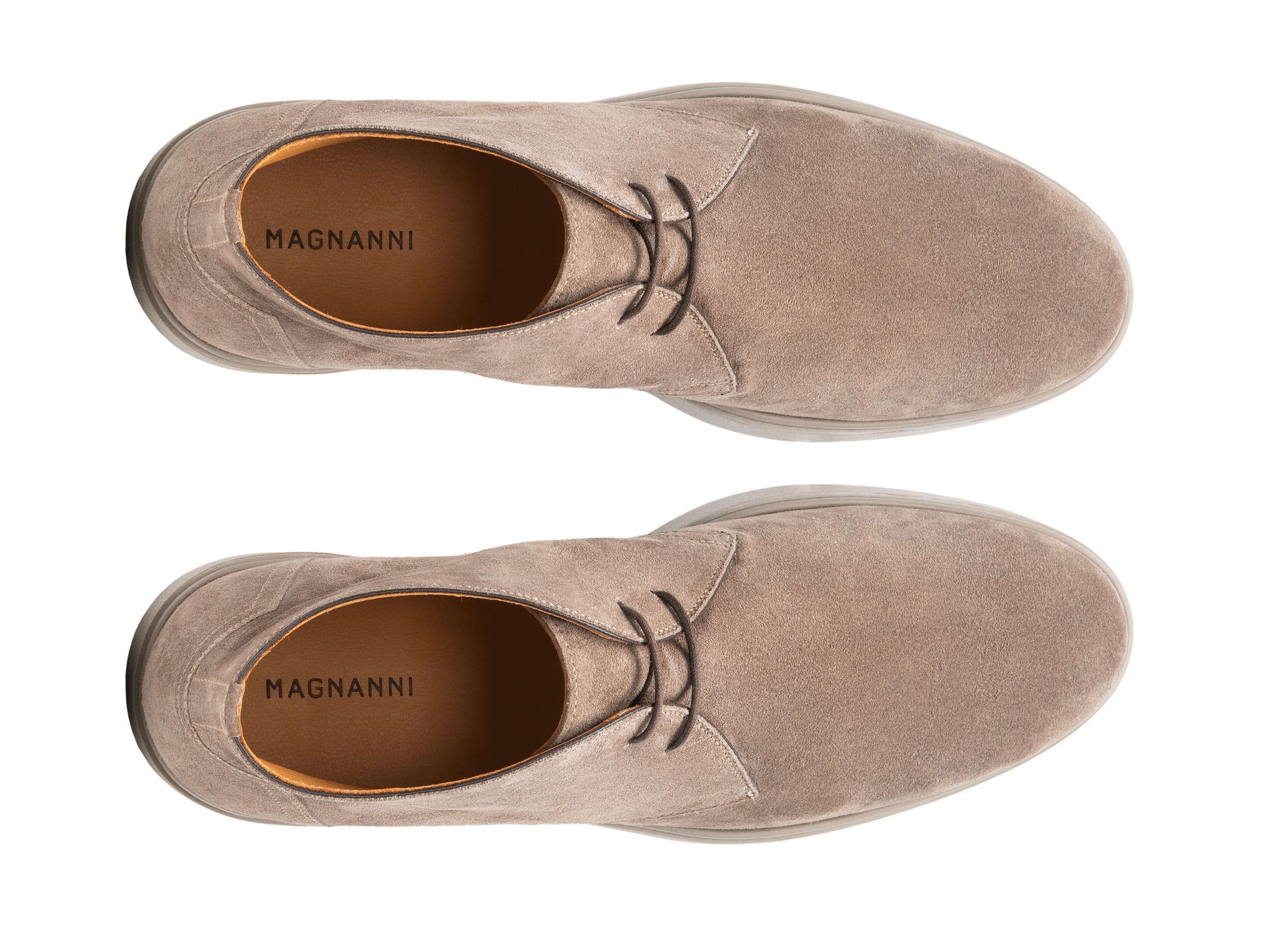 Top Down of the Duran Taupe Suede