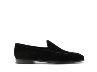 Side of the Hiram Black Suede