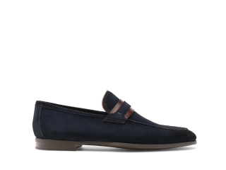 Side of the Daniel Navy Suede